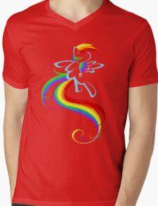 Flowing Rainbow Mens V-Neck T-Shirt