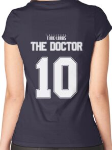 Team Tennant (The Doctor Team Jersey #10) Women's Fitted Scoop T-Shirt