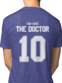 Team Tennant (The Doctor Team Jersey #10) Tri-blend T-Shirt