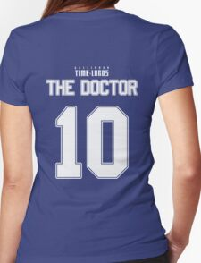 Team Tennant (The Doctor Team Jersey #10) Womens Fitted T-Shirt