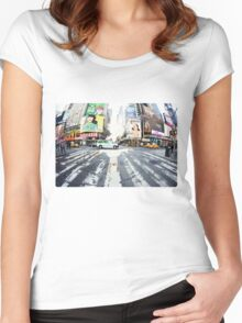 Yoga in Times Square, New York Women's Fitted Scoop T-Shirt