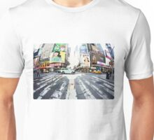 Yoga in Times Square, New York Unisex T-Shirt