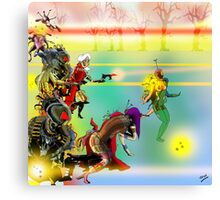 Laser Battle! Canvas Print
