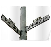 Haight Ashbury intersection Poster