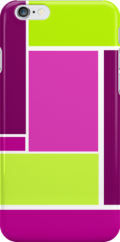 Bold, Geometric Design in Purple and Green by ArtformDesigns
