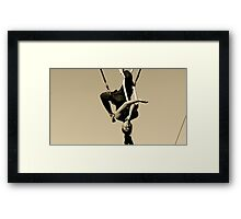 Cloud swing Framed Print