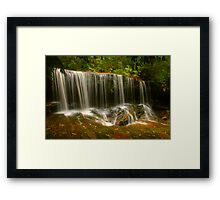 Lower Somersby Falls .. the lateral view Framed Print