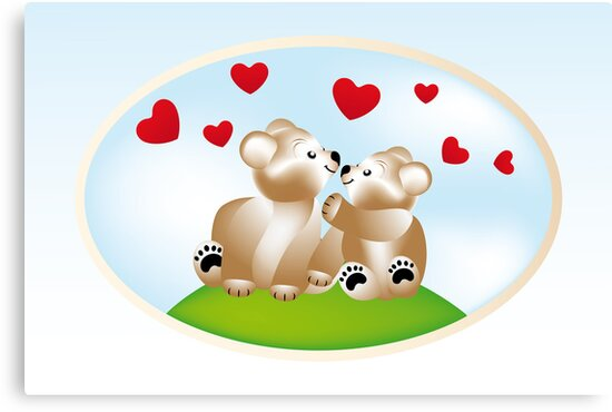 Smiling teddies in love by schtroumpf2510