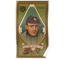 Benjamin K Edwards Collection Edward Killian Detroit Tigers baseball card portrait Poster