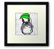 Totoro Raindrop Framed Print