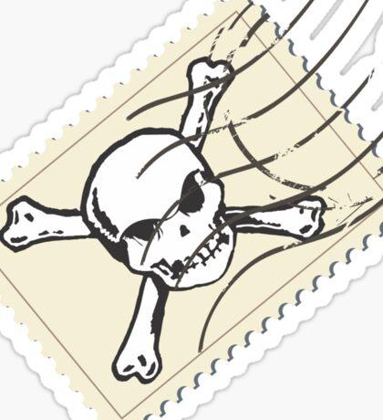postage stamp Sticker