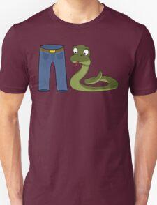 Funny Trouser Snake Cartoon Design T-Shirt