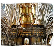 Organ, Norwich Cathedral Poster