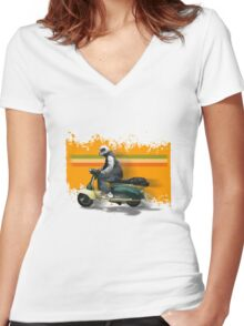 turismo veloce - tv175 Women's Fitted V-Neck T-Shirt