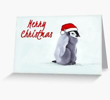 Baby Penguin Christmas Card Greeting Card