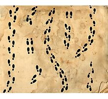 Marauders Map Footprints Photographic Print