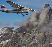 Flying past the Matterhorn by neil harrison