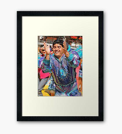 Peruvian Dancer Framed Print