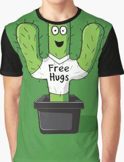 Free Hugs Cactus  Graphic T-Shirt