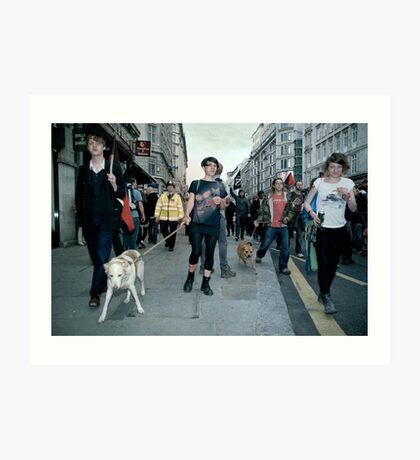 the people are revolting and so are their dogs Art Print