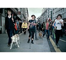 the people are revolting and so are their dogs Photographic Print