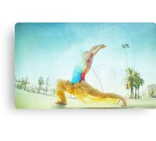 Butterfly, yoga in Barcelona Metal Print