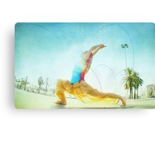 Butterfly, yoga in Barcelona Canvas Print