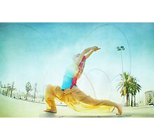 Butterfly, yoga in Barcelona Photographic Print