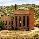 Abandoned power station, Aliaga,  Maestrazgo, Aragon, Spain by Andrew Jones