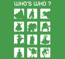Who's who ? (bad guys edition) Kids Clothes