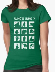 Who's who ? (bad guys edition) Womens Fitted T-Shirt