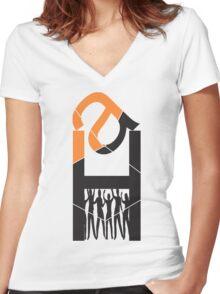 Monograms design Women's Fitted V-Neck T-Shirt