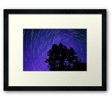 Ohio Night Sky - Star Trails Framed Print