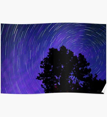 Ohio Night Sky - Star Trails Poster
