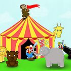 Fun Cartoon Circus Scene by ArtformDesigns