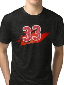 Number 33 Tri-blend T-Shirt