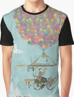 Riding A Bicycle Through The Mountains Graphic T-Shirt