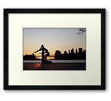 Acroyoga at Williamsburg, New York Framed Print