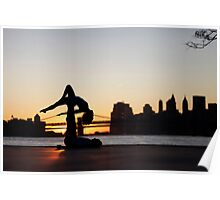 Acroyoga at Williamsburg, New York Poster