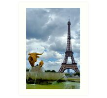 View from Trocadero in Paris Art Print