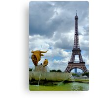 View from Trocadero in Paris Canvas Print