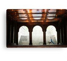 Yoga at Bethesda Terrace, Central Park, New York Canvas Print
