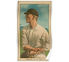 Benjamin K Edwards Collection Fred Merkle New York Giants baseball card portrait 001 Poster