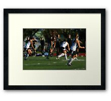 100511 221 0 water color field hockey Framed Print