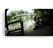 Yoga meditation at Central Park, New York Canvas Print