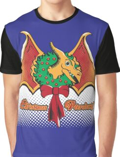 Christmas Pterodactyl Graphic T-Shirt