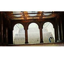Yoga at Bethesda Terrace, Central Park, New York Photographic Print