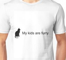My Kids Are Furry (Cat Silhouette) Unisex T-Shirt