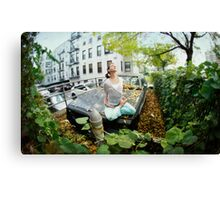 Full lotus, yoga in New York Canvas Print