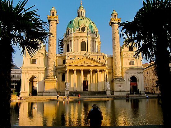 Karlskirche, Vienna by Mihaela Limberea